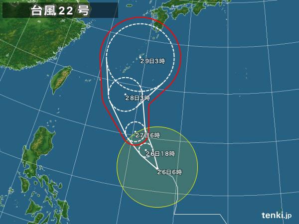 【台風2017】今週末、台風22号 沖縄本島直撃の可能性高くなってきましたね・・・