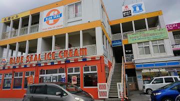 【沖縄バス旅】名護市 世冨慶バス停 乗換ポイントとしてとっても便利 ブルーシールで一息も