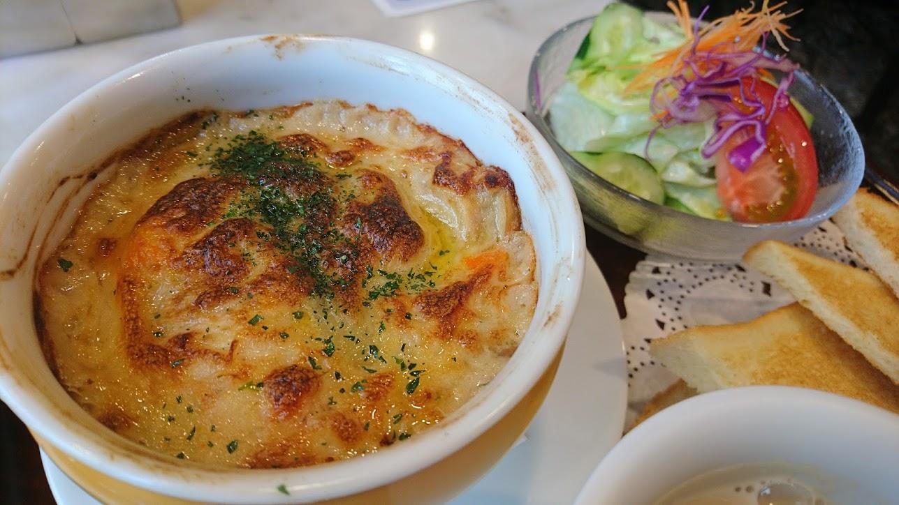 【神戸】懐かしくて神戸に帰ってきたと私が感じるグラタンセット 神戸にしむら珈琲店 三宮店