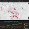 【香港】新型コロナウイルス(COVID19)の感染者マップ